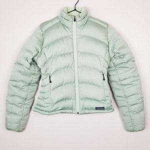 Patagonia Light Green Goose Down Puffer Jacket S
